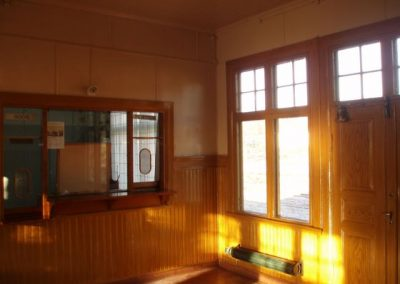 Efter renovering av Virserums stationshus.